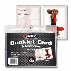 BCW Booklet Card Sleeve (Vertical) - Pack of 50